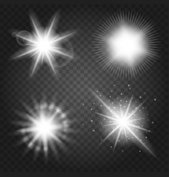 stars set on transparent background vector image vector image