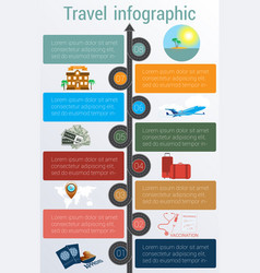 Travel infographic template 8 positions vector