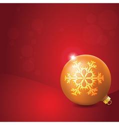 Christmas Ball with Snowflake Decoration vector image