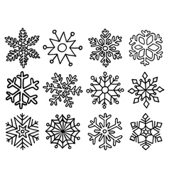 Snowflakes large set vector