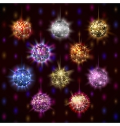 Disco balls set vector