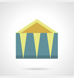 Trade canopy flat color icon vector