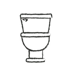 Monochrome blurred silhouette with toilet icon in vector