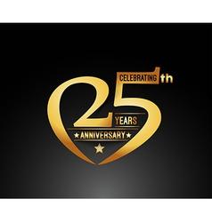 25th years anniversary vector