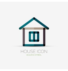 House icon company logo business concept vector
