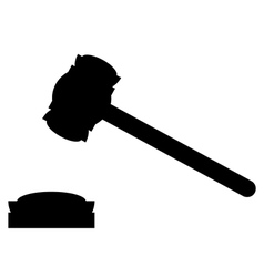 Judge gavel icon vector