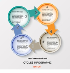 Cycles infographic four positions vector