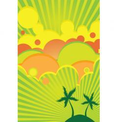 tropical lime and lemon vector image