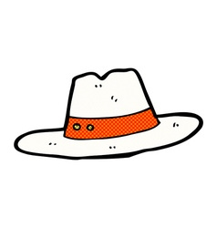 Comic cartoon hat vector