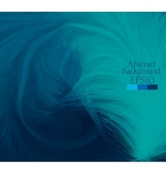 Macro feathers turquoise dark blue vector
