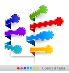 colored tabs vector image