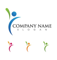 Healthy logo template vector