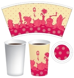 Paper cup for tea or coffee vector
