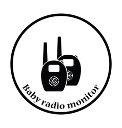 Baby radio monitor icon vector