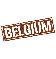 Belgium brown square stamp vector