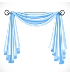Blue curtains on the ledge forged isolated on a vector image vector image
