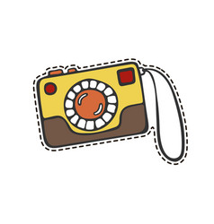 camera sticker vector image vector image