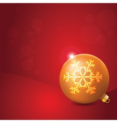 Christmas Ball with Snowflake Decoration vector image vector image