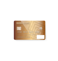 credit card photorealistic bank card isolated on vector image