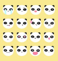 Cute panda emoji vector