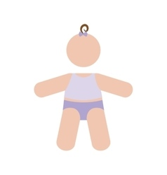 faceless baby icon image vector image