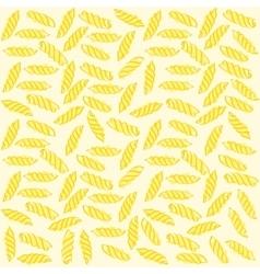 Fusilli italian pasta seamless pattern vector