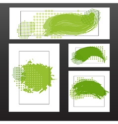 green blots vector image vector image
