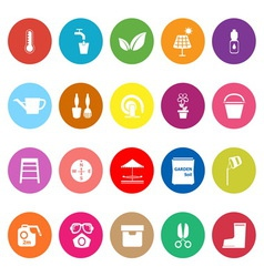 Home garden flat icons on white background vector image vector image