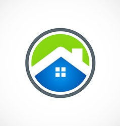 home roof business construction icon logo vector image vector image