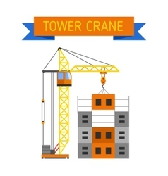 Industrial construction cranes flat style vector