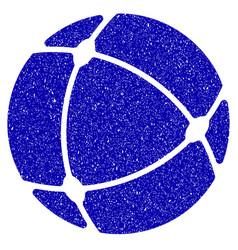 internet sphere icon grunge watermark vector image