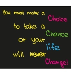 Make a choice vector image
