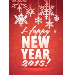 Merry Christmas and Happy New Year Snowflake Card vector image vector image
