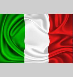Mexico italy flag realistic silk drape vector