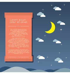 Moon and Clouds Background vector image vector image