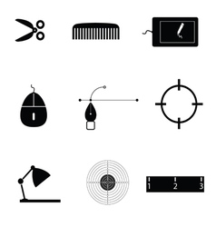 object icon black vector image vector image