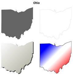 Ohio outline map set vector