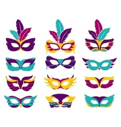 party masks vector image vector image