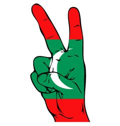 Peace Sign of the Maldivian flag vector image