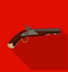 Pistol icon in flat style isolated on white vector