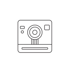 Retro camera line icon outline vector