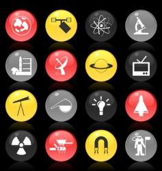 scientific buttons vector image vector image