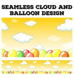 Seamless cloud and balloon design vector
