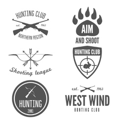 Set of logo sticker badge emblem label print vector image