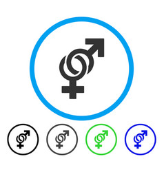 Sexual symbols rounded icon vector