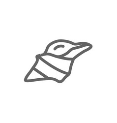 simple conch line icon symbol and sign vector image