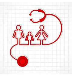 Stethoscope make family icon vector