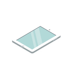 tablet pc device isometric 3d icon vector image vector image