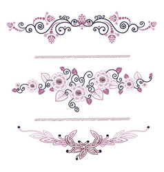 Vintage decoration pages pink vector