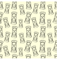 Grungy seamless pattern with hourglass vector